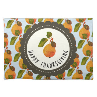 Fall Pears Fruit Thanksgiving Placemat