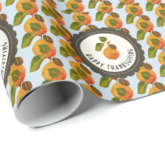 Fall Pears Fruit Thanksgiving Wrapping Paper