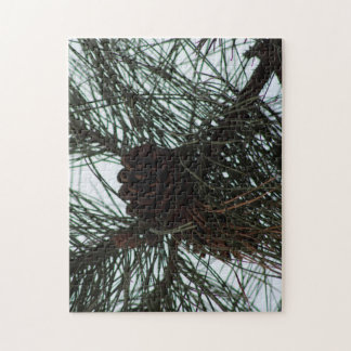 Fall Pines Jigsaw Puzzle