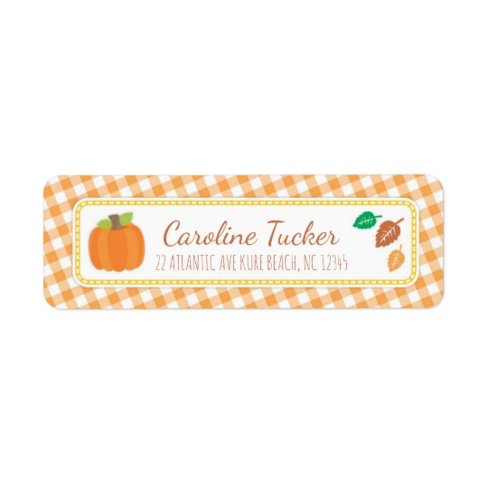 Fall Pumpkin Baby Shower Address Label
