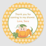 Fall Pumpkin | Baby Shower Favour Sticker