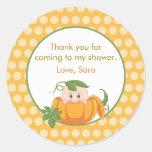 Fall Pumpkin | Baby Shower Favour Sticker