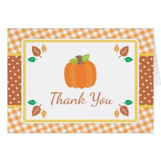 Fall Pumpkin Baby Shower Thank You Card
