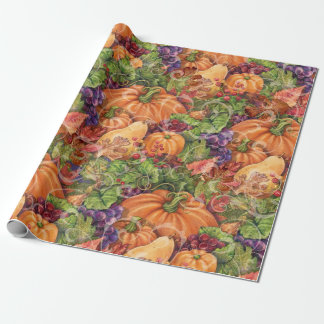 Fall Pumpkin Harvest Wrapping Paper Gift Wrap