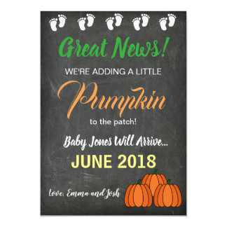 Fall Pumpkin Patch Baby Pregnancy Announcement