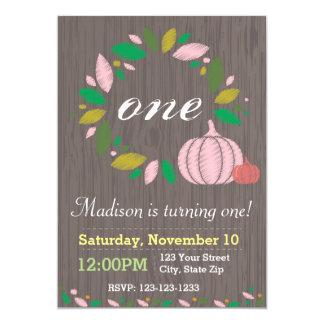 Fall Pumpkin Wreath Birthday Invitation