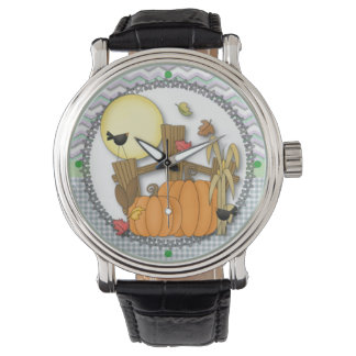 Fall Pumpkin Wristwatches