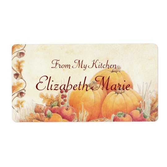 Fall Pumpkins Homemade Shipping Label