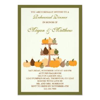 Fall Pumpkins Rehearsal Dinner Invitation