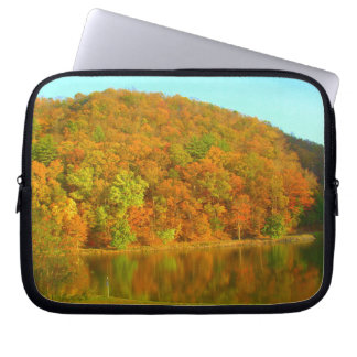 fall reflection laptop computer sleeves