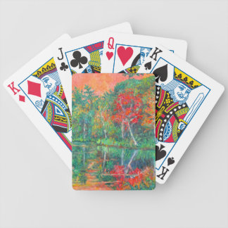 Fall Reflections at Peaks of Otter Bicycle Playing Cards