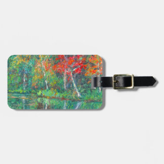 Fall Reflections at Peaks of Otter Luggage Tag