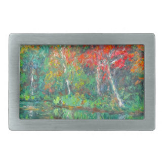 Fall Reflections at Peaks of Otter Rectangular Belt Buckle