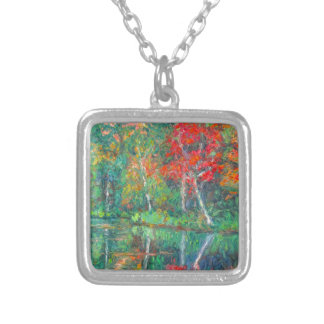Fall Reflections at Peaks of Otter Silver Plated Necklace