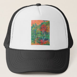Fall Reflections at Peaks of Otter Trucker Hat