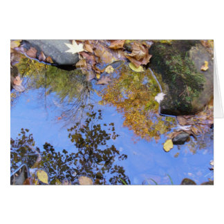 Fall Reflections in Fires Creek Card