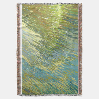 Fall Reflections on Lake Decor Throw Blanket Juul