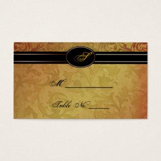 Fall Regency Wedding Place Cards