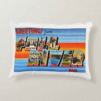 Fall River Massachusetts MA Old Travel Souvenir Accent Pillow