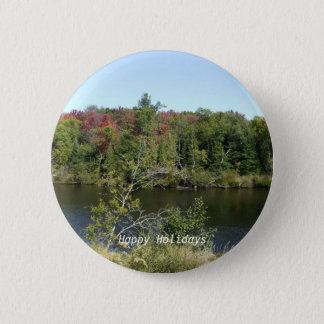Fall River Scene 2 Inch Round Button