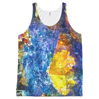 Fall River watercolor tank top