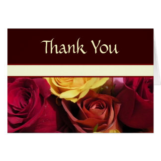 Fall Roses Thank You Card