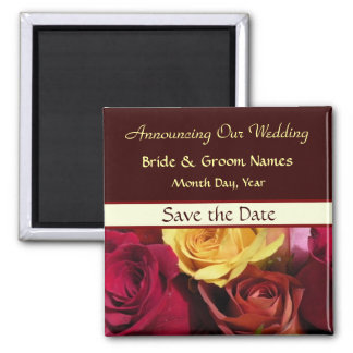 Fall Roses Wedding Save the Date Magnet