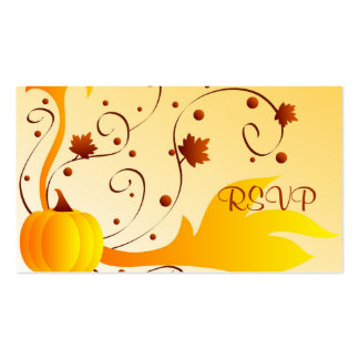 Fall RSVP - Gifttag Double-Sided Standard Business Cards (Pack Of 100)