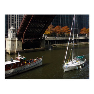 Fall Sailing on the Chicago River Postcard