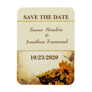 Fall Save the Date Flexible Magnet