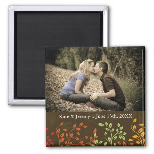 Fall Save the Date Photo Wedding Magnet
