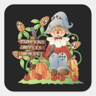 Fall Scarecrow Seasonal fun stickers