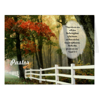 Fall Scene Custom Pastor Appreciation From All Card