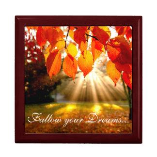 Fall Scene Keep Sake/Gift Box/Follow your Dreams.. Jewelry Boxes