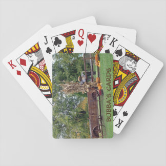 Fall Scene Old-Time Farm Cart, Scarecrow, Pumpkins Poker Deck