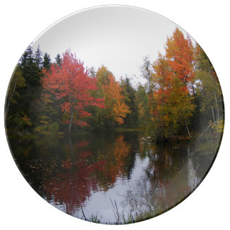 Fall Scenery Dinner Plate
