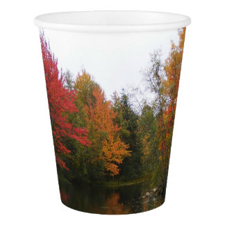 Fall Scenery Paper Plate Paper Cup