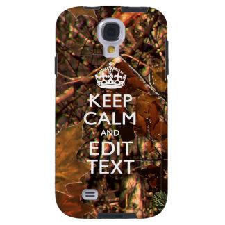 Fall Season Camouflage Keep Calm Your Text
