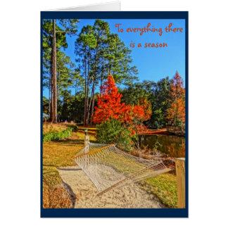 Fall Season Inspirational Scripture Bible Verse Card