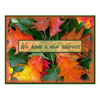 Fall Season Oak Leaves Moving Postcard