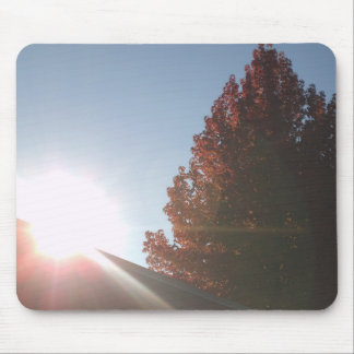 Fall Season Sunset Mouse Pad