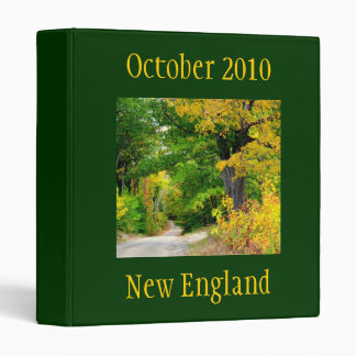 Fall Season Travel Binder
