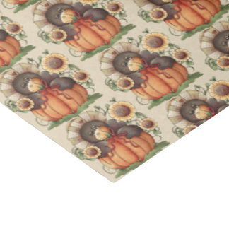 Fall Seasonal crow party tiled tissue paper