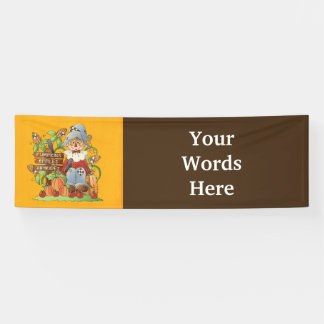 Fall Seasonal scarecrow add words Festival banner