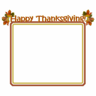 Fall Seasons Best Happy Thanksgiving Text Photo Cutout
