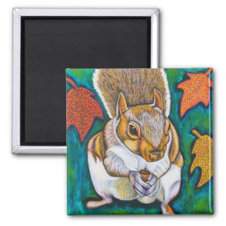 Fall Squirrel Magnet