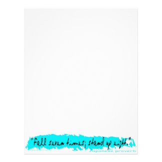 Fall-Stand:  Japanese Proverb Personalized Letterhead