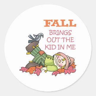 Fall Round Stickers