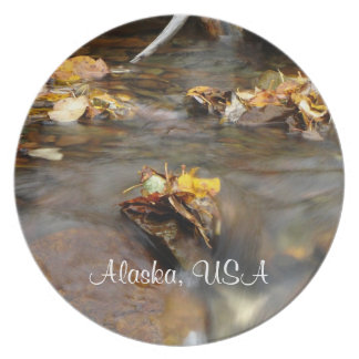 Fall Stream; Alaska Souvenir Party Plate