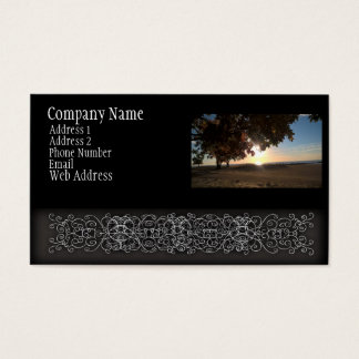 Fall Sunrise At The Lake Business Card